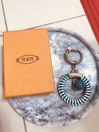 Tod's 鑰匙圈 水藍色 正貨