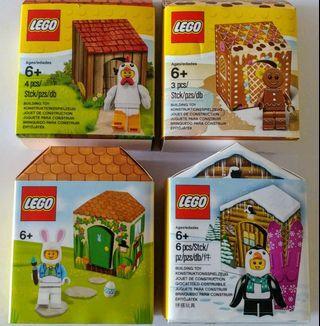 全新未開盒 Lego 系列 (一次過四盒) 5004468 5005156 5005249 5005251 人扮雞,兔,企鵝,及薑餅人 Holiday 系列