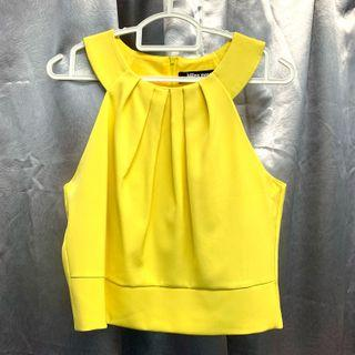 Yellow Crop Top (Free Size)