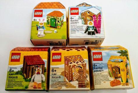 全新未開盒 (一次過五盒)Lego 5004468 5005156 5005249 5005251 5005250 人扮雞,兔,企鵝,香蕉及薑餅人 Holiday 系列
