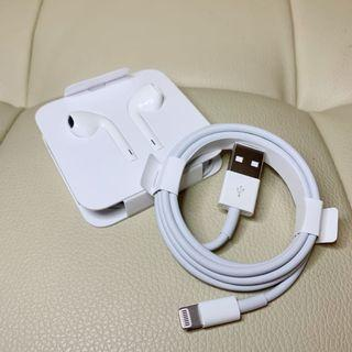 Apple EarPods with Lightning Connector / iPhone USB Cable