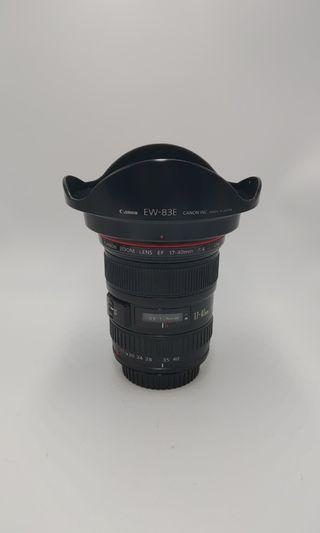 Canon 17-40mm F4 L over90%new