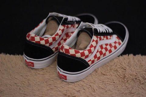 Vans Oldskool Checkerboard red/black primary