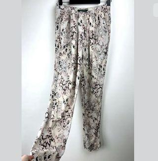 Arthur Galan 8 beige semi sheer harem pants trousers smart casual silk