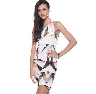 Love Bonito dannah graphic bodycon dress size M