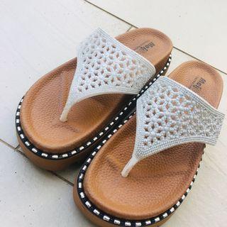 雙11下殺50元 限量一雙 華麗厚底夾腳拖 時尚女鞋 夏天必備 女鞋 買到賺到