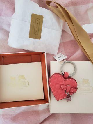 Coach Heart key chain