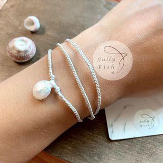 珍珠手鍊 珍珠項鍊 天然珍珠 淡水珍珠飾品 氣質手鏈
