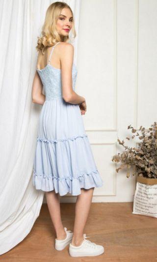 TSW BLUE LACE CROCHET DRESS