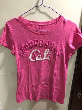 Aeropostale 粉紅短袖