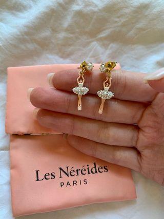 Les Nereides Sparkling Silver Mini Ballerina Earrings
