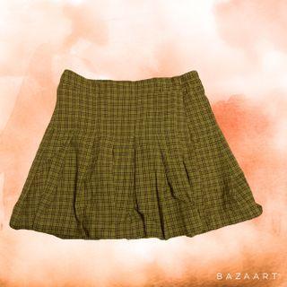 可愛ㄉ格子百摺褲裙 L號ㄛ
