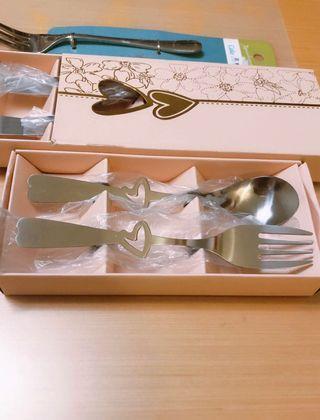 餐具套裝 心型叉羹 3件 spoon fork