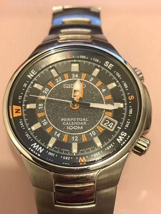 精工 Seiko 8F56-00H0 GTM 潛水 防水 鋼錶 men's perpetual calendar watch 100m