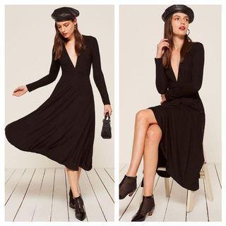 REFORMATION Black Dress XS