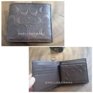 Dompet coach original - coach men wallet embossed