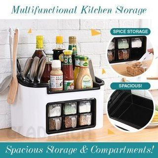 Kitchen Storage Rack Condiments Organizer