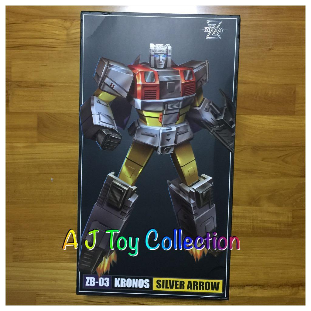 Transformers Zeta toys ZB-03 Kronos Silver Arrow in Stock