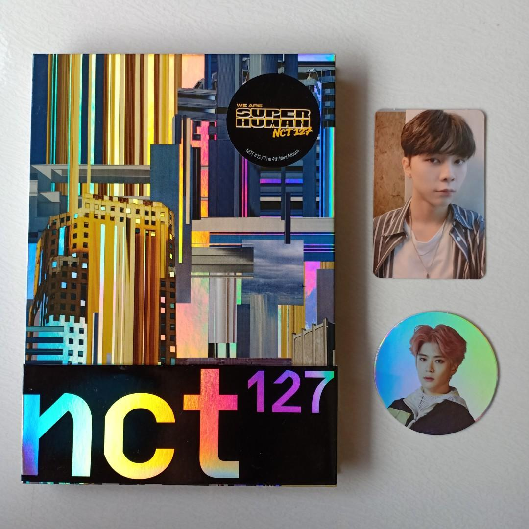 ALBUM NCT 127 SUPERHUMAN JOHNNY PHOTOCARD JAEHYUN CC