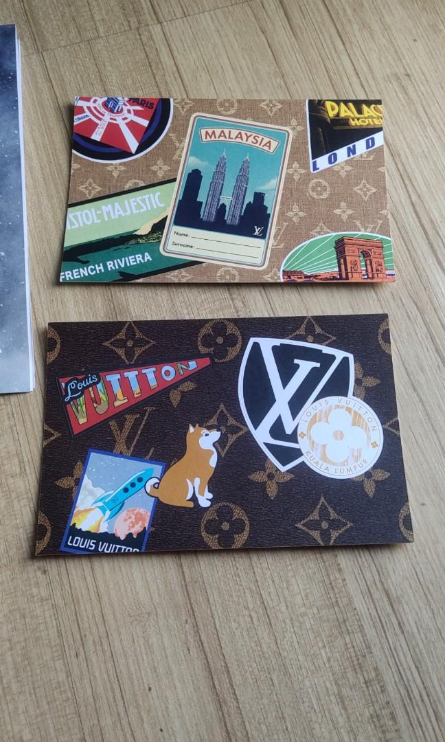 💯AUTHENTIC LV Postcard / sticker world travel collection collectibles Louis Vuitton cute creative monogram classic