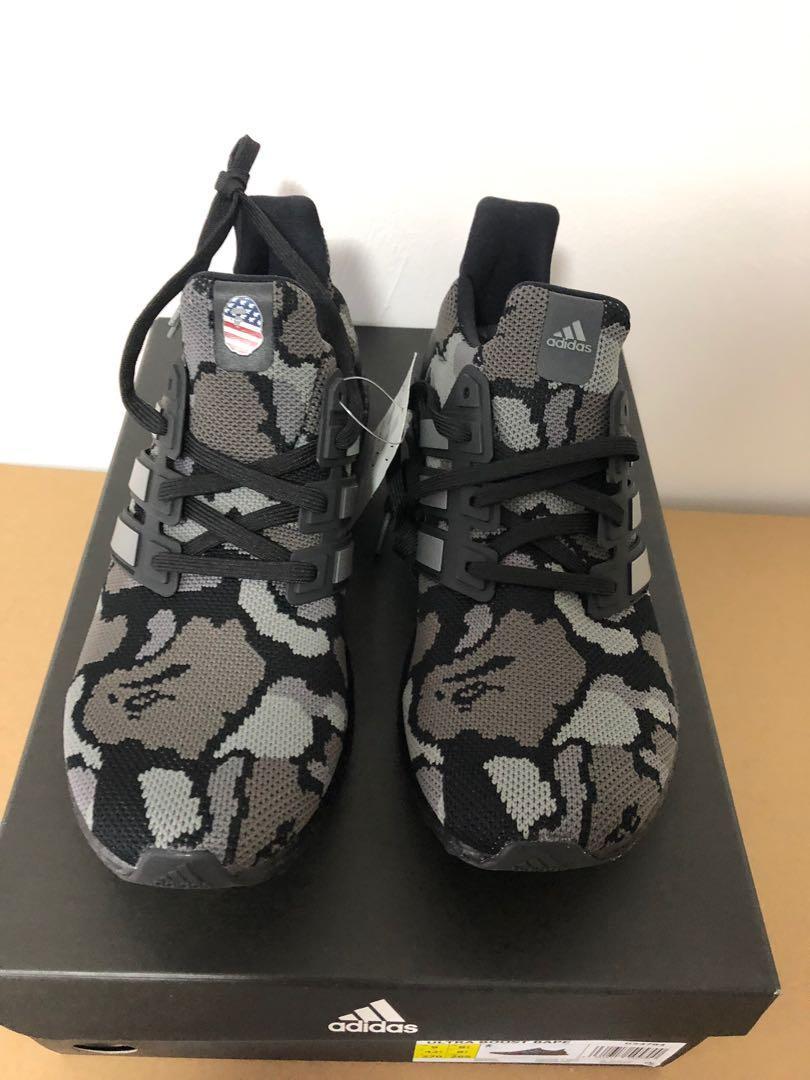 espejo de puerta dolor de muelas artillería  Bape X Adidas Ultraboost black camo, Men's Fashion, Footwear, Sneakers on  Carousell
