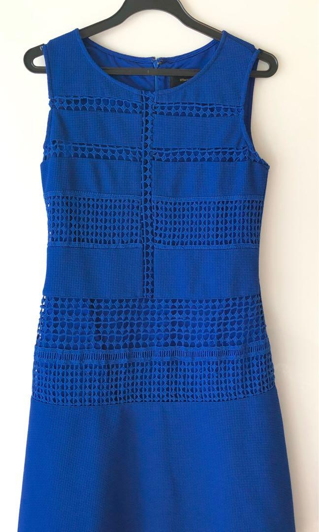 Blue midi dress, Women's Fashion, Clothes, Dresses & Skirts