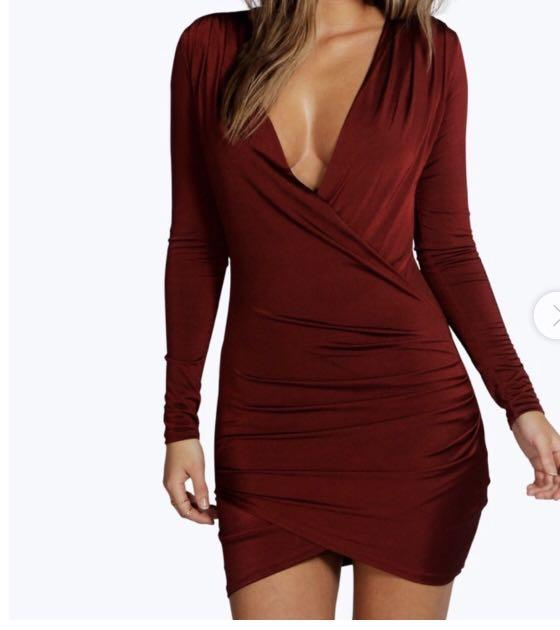 BOOHOO WRAP DRESS SIZE 10