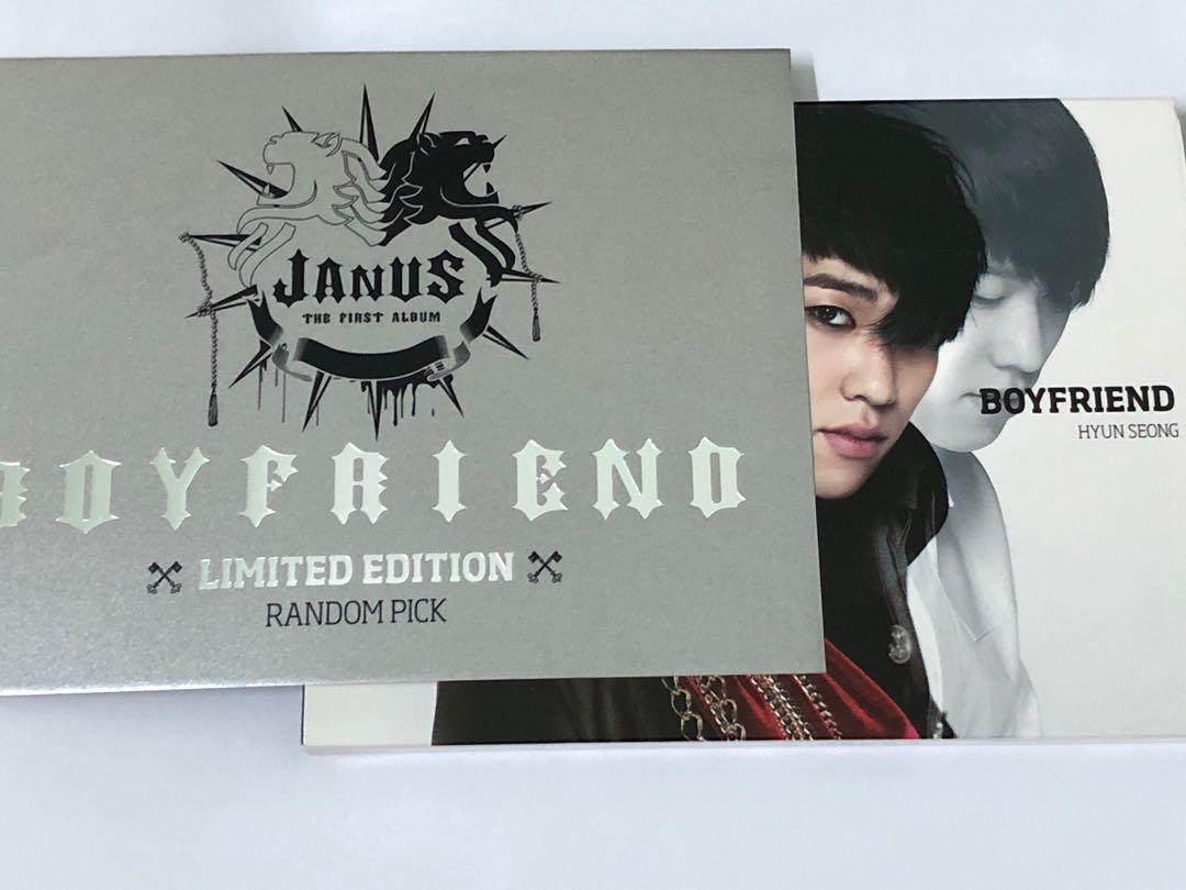 BOYFRIEND THE FIRST ALBUM JANUS  [ LIMITED EDITION RANDOM PICK - HYUNSEONG ]