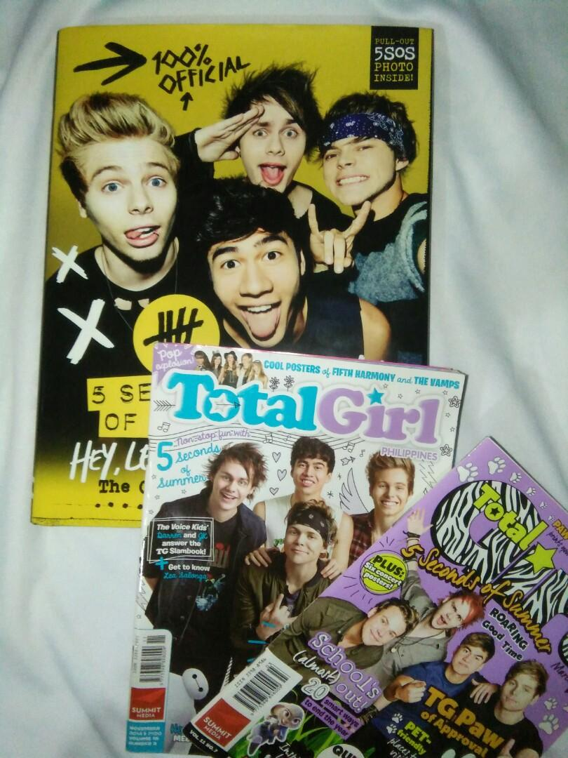 BUNDLE: 5 Seconds of Summer Hey, Let's Make a Band Official Book & Total Girl Magazines