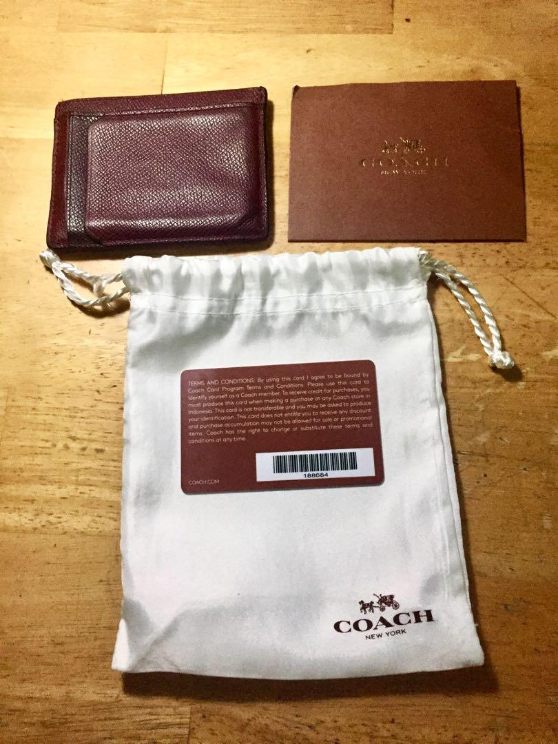 Coach Credit Card HOLDER AUTHENTIC / ORI - WITH WARRANTY CARD & Dust Bag