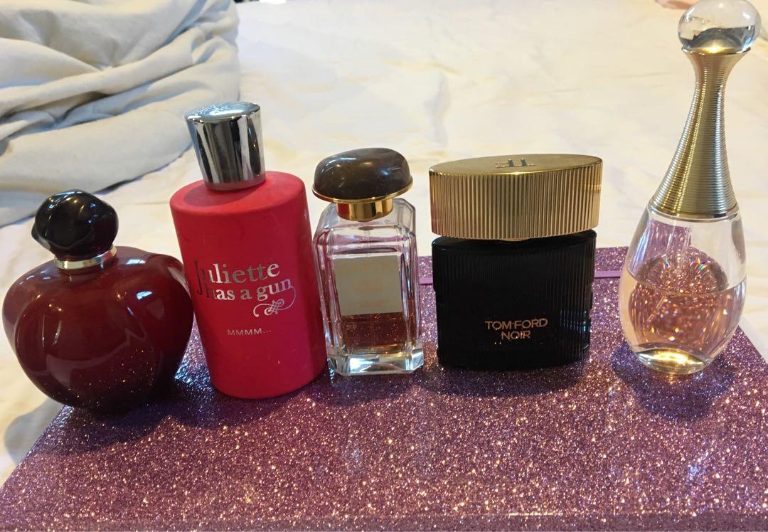 Dior, Tom Ford, Aerin Lauder, Juliet has a gun, perfumes
