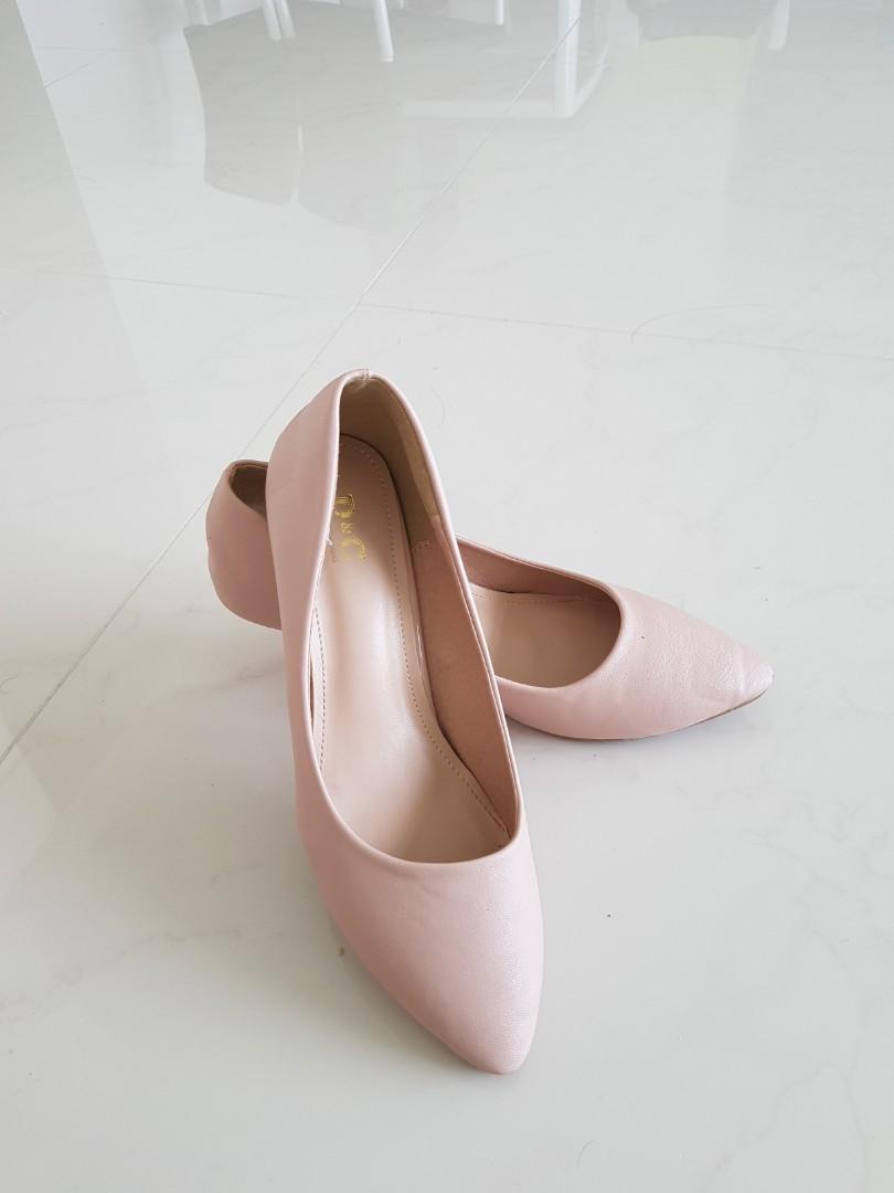 Dusty Light Pink Kitten Heels, Women's