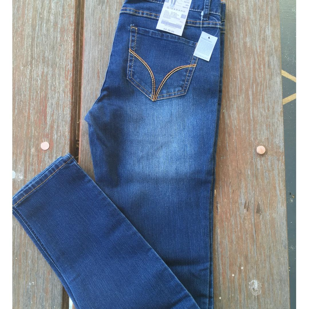 FREE POST Womens Giordano NEW size 9 denim skinny jeans
