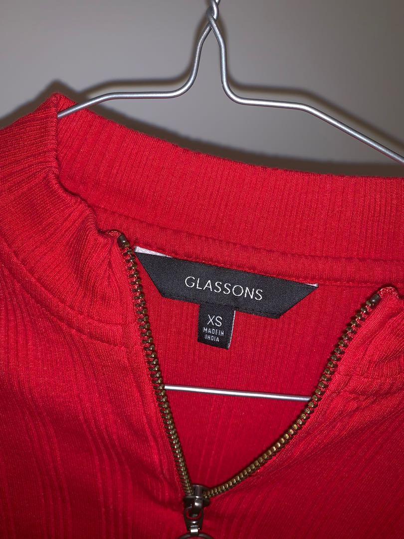 Glassons half-zip crop