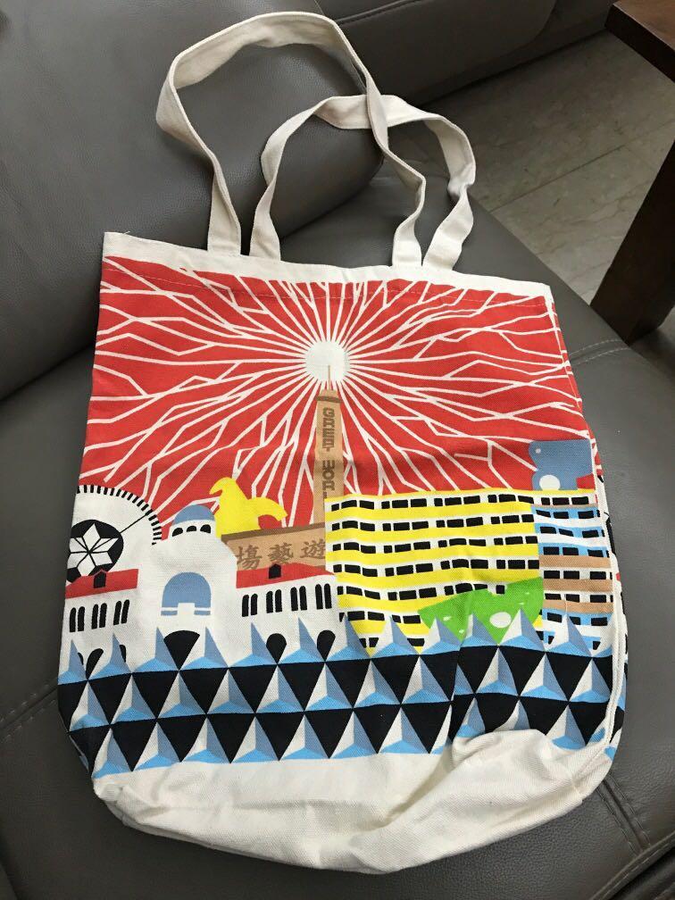Great World City Retro Museum Canvas Tote Bag