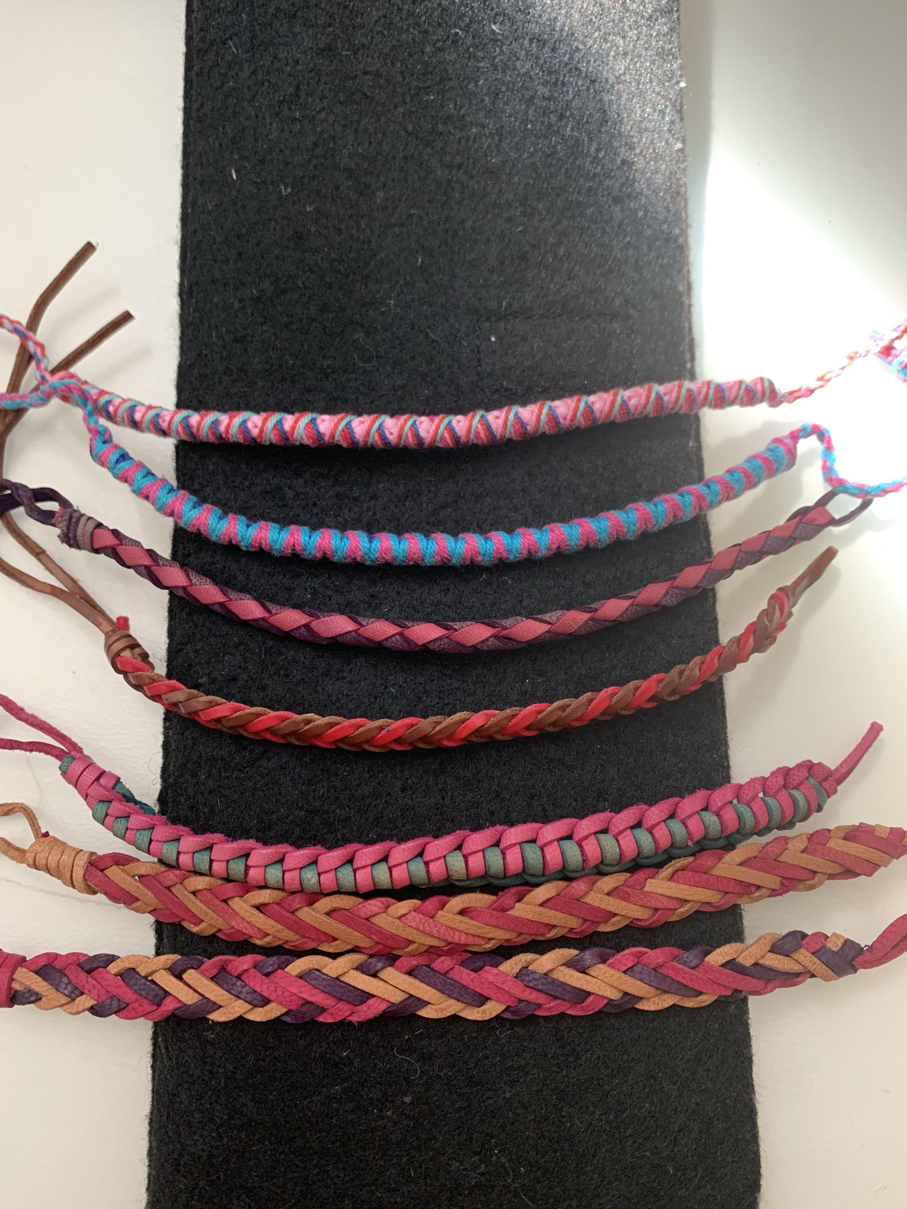 Grecian Leather Cloth Bracelets Women