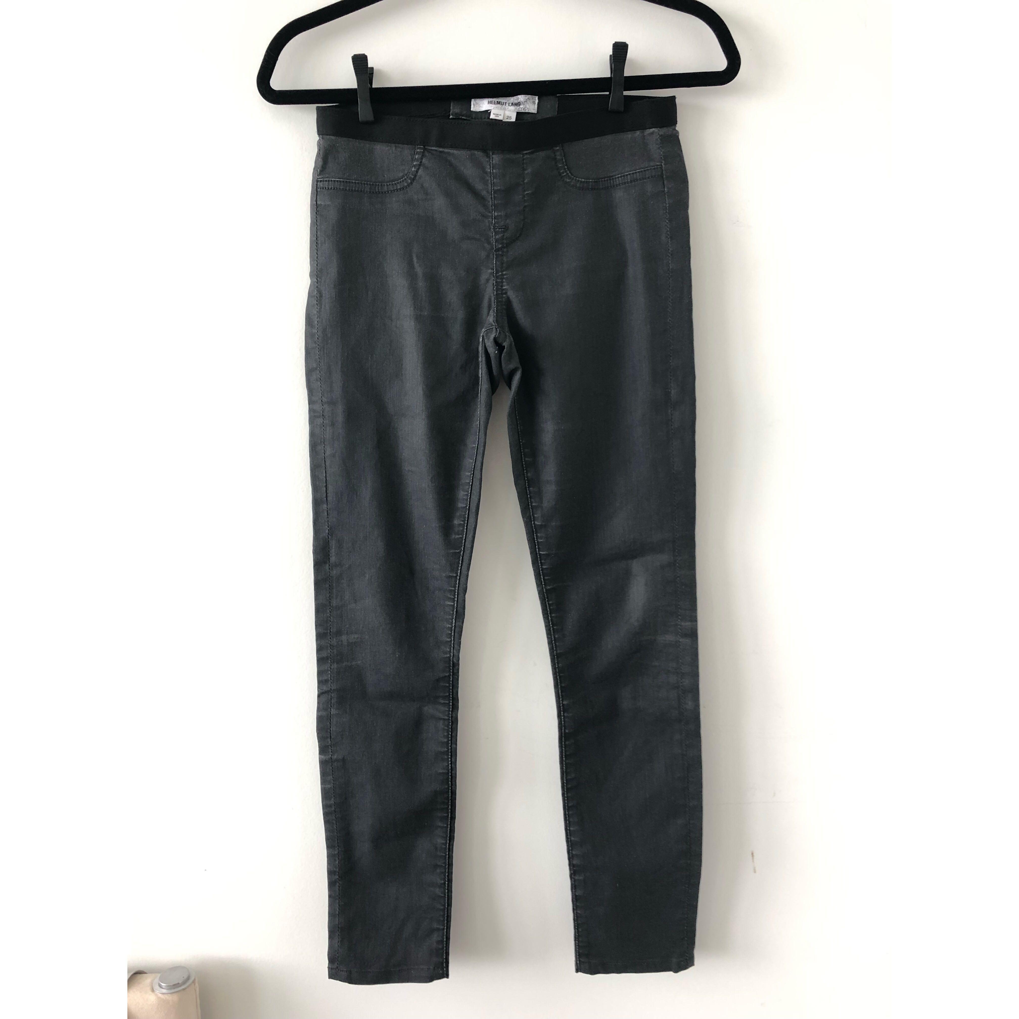 Helmut Lang Black Moto Jeans