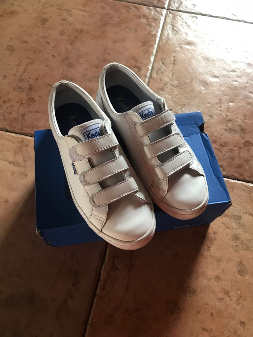 Keds Velcro Leather Sneakers, Women's