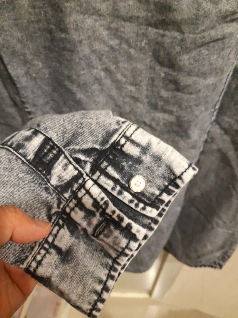 Kemeja Jeans denim shirt cantik