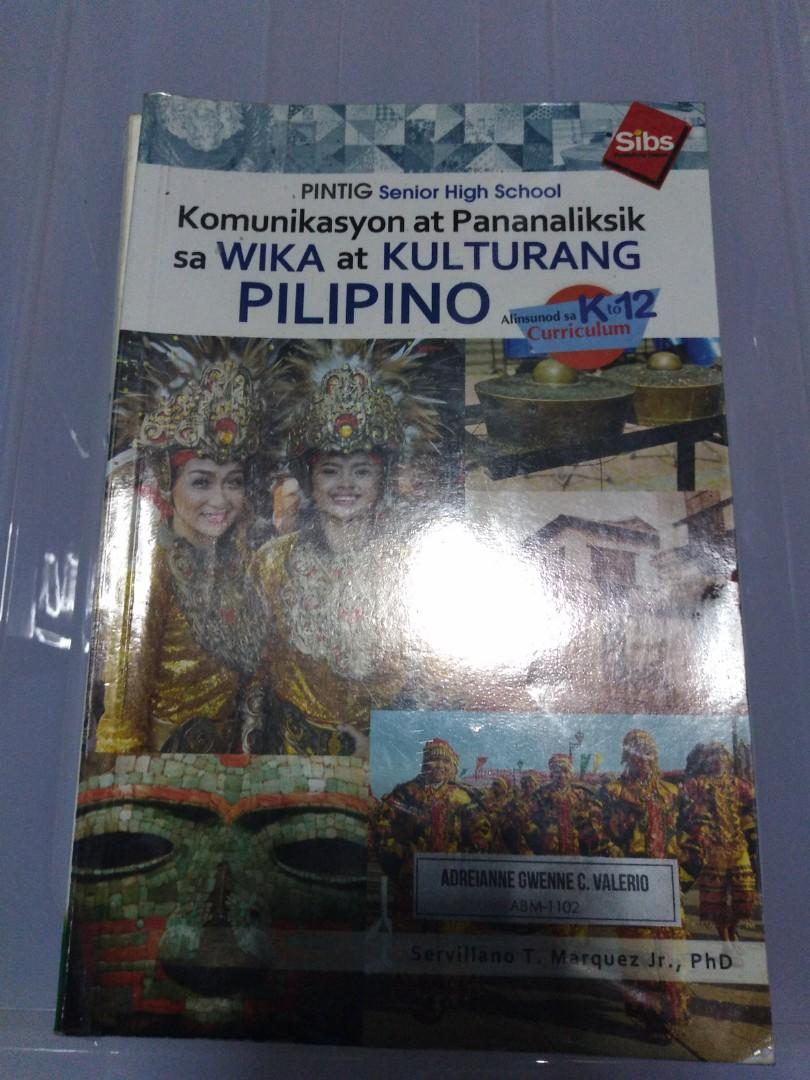 Komunikasyon at Pananaliksik sa Wika at Kulturang Pilipino | Senior High School Books