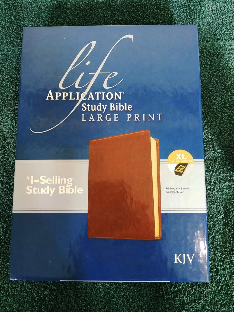 Life Application KJV Study Bible (large print/Bonded leather/indexed) 📔📕📖