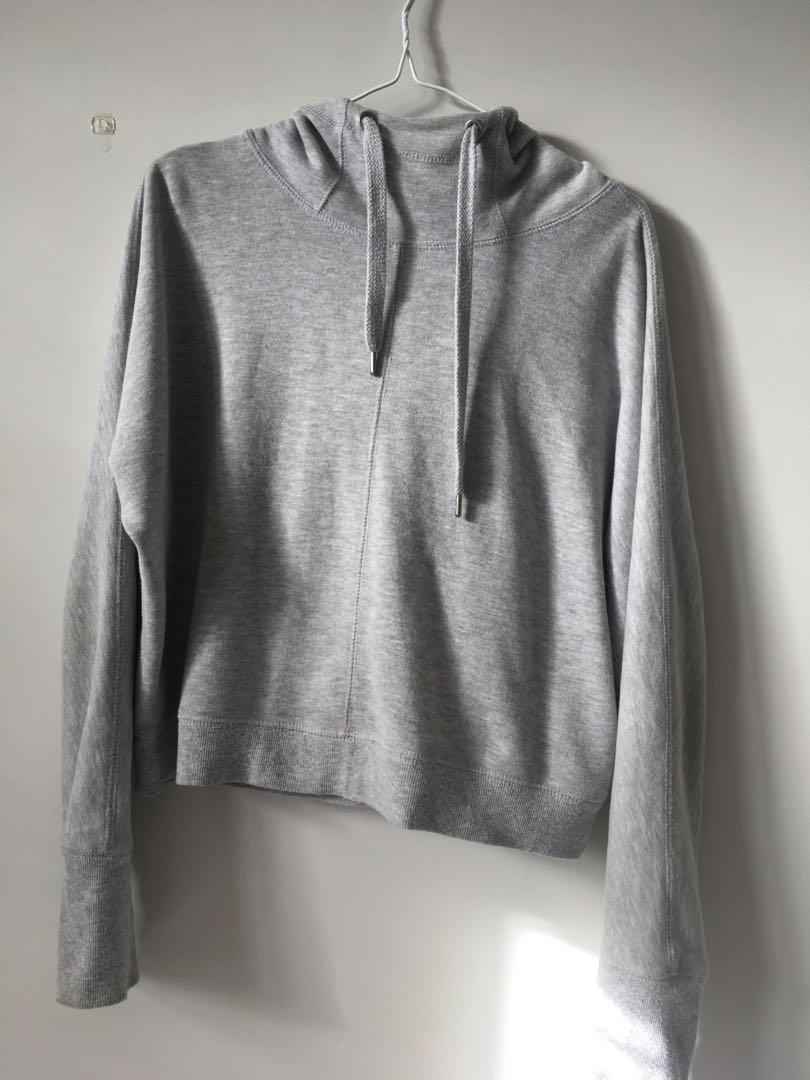Light grey sports hoodie