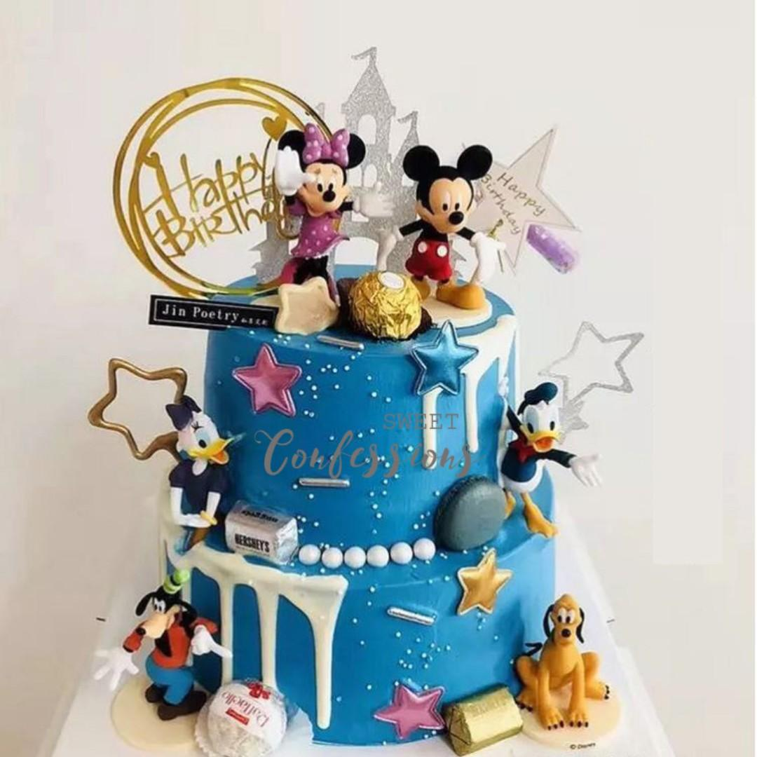 Astonishing Mickey Minnie Mouse Donald Daisy Duck Goofy Pluto Figurine For Personalised Birthday Cards Paralily Jamesorg