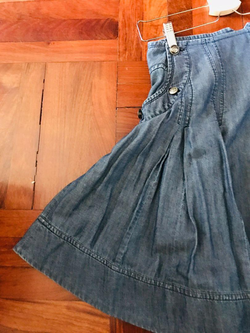 Nautica 棉麻Denim Skirt
