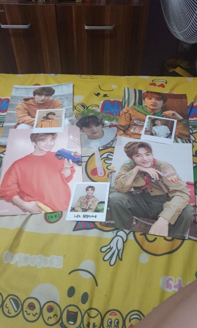 NCT Dream Summer Vacation Package Jaemin Haechan Fan Photocard dan Poster