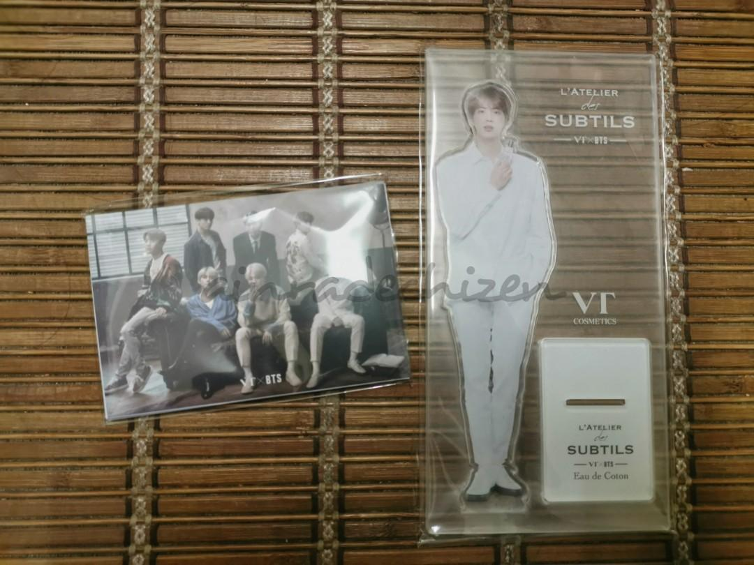 [READYSTOCK] BTS VTXBTS LATELIER DES SUBTILS PERFUME PHOTOCARDS AND JIN ACRYLIC STANDEE