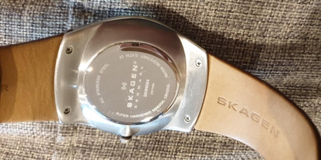 Skagen Havene quartz saddle leather brown strap SKW6084