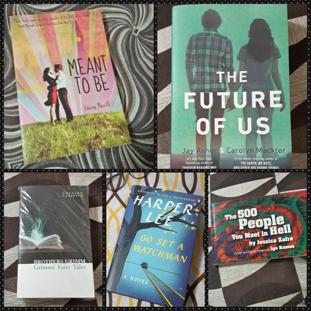 YA Fiction and Classics Books (Go Set A Watchman, The Future of Us, Meant To Be, Grimms' Fairy Tales, 500 People You Meet in Hell)