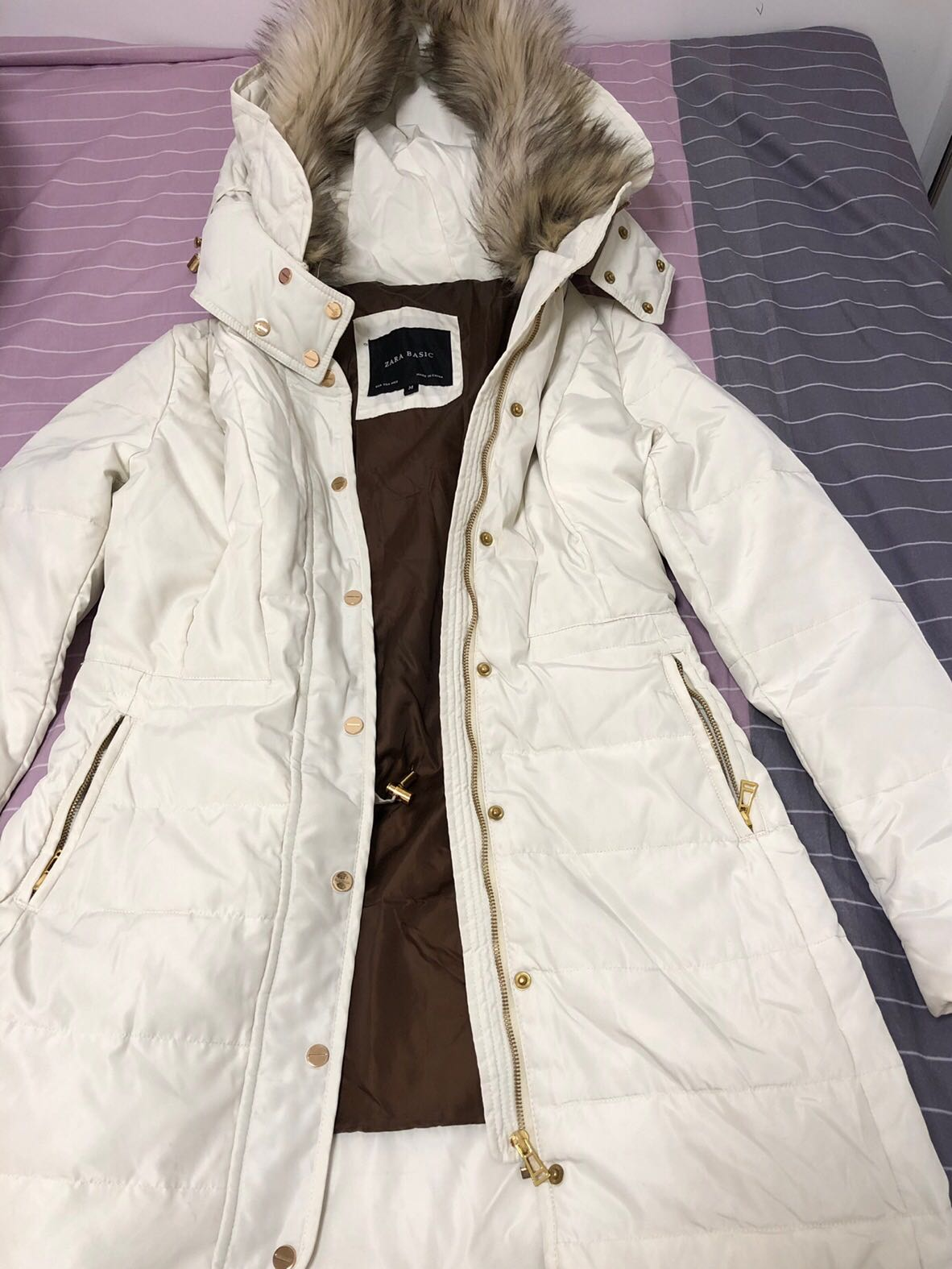 real quality new varieties free delivery ZARA cream winter jacket