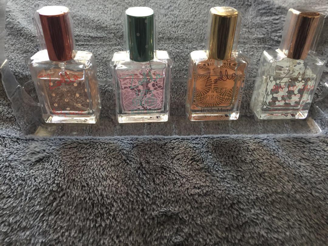 Zoella Secret Scenta 4 Mini Body Mist Perfume Gift Set RARE